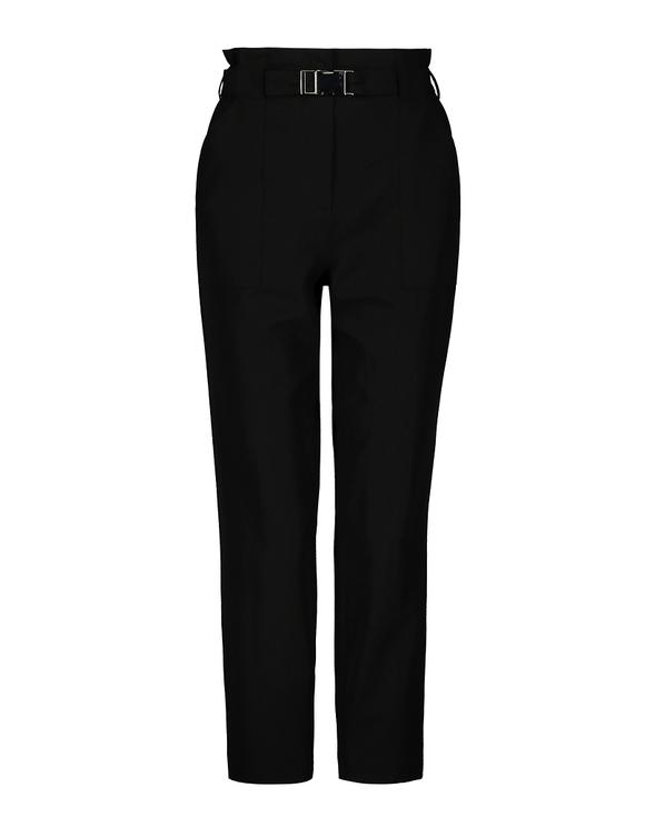 Czarne spodnie z paskiem