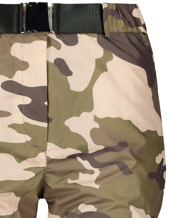 Camo Cargo Pants with Belt