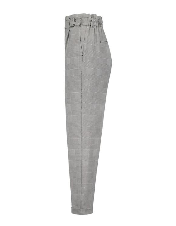 Pantalon à Carreaux Détail Boucle