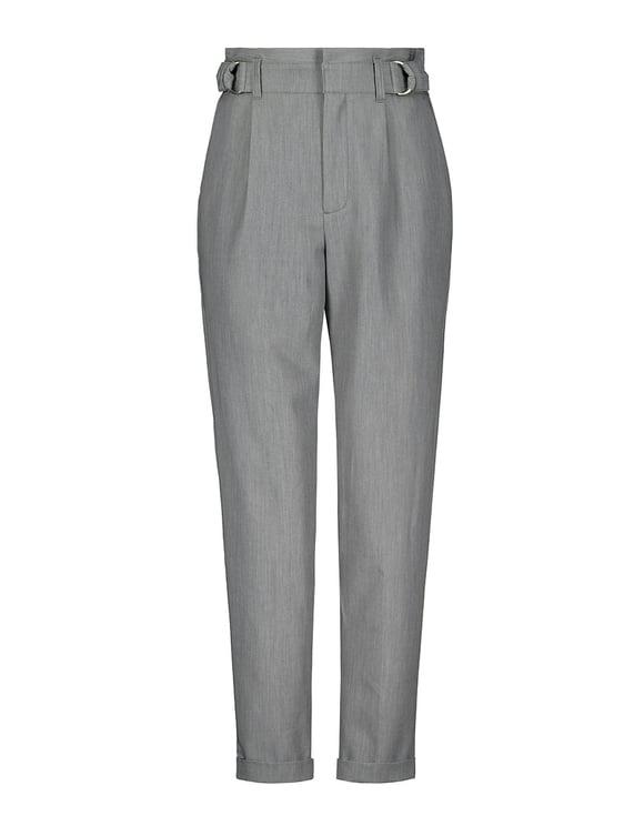 Szare spodnie z paskiem