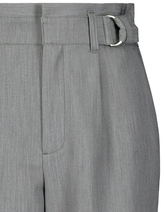 Pantalon Gris Détail Boucle