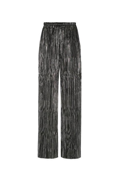 Silver Pleated Trousers