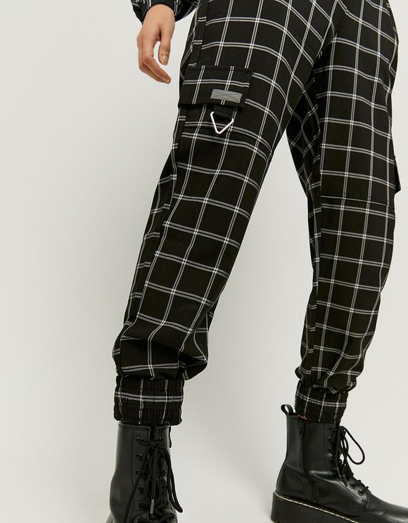 Pantaloni Joggers Stampati a Vita Alta
