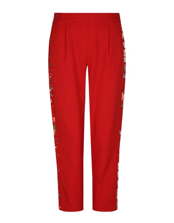 Red Trousers with Sidebands