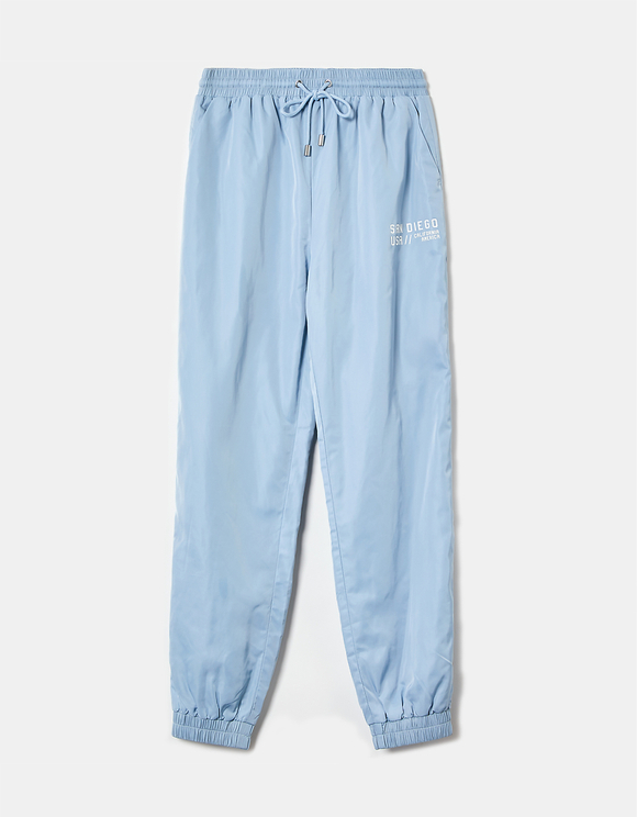 Pantaloni Jogger in Nylon Stampati