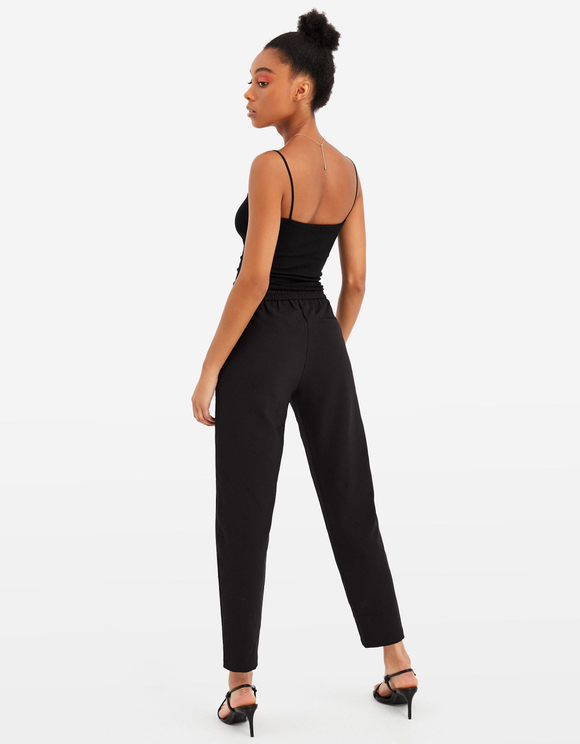 Black Trousers with Drawstring