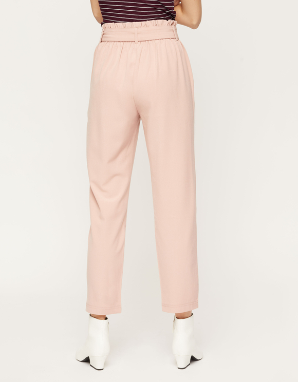 Pink Trousers with Belt
