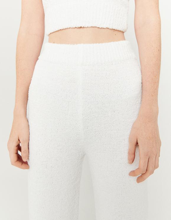 Pantalon en Maille Blanc