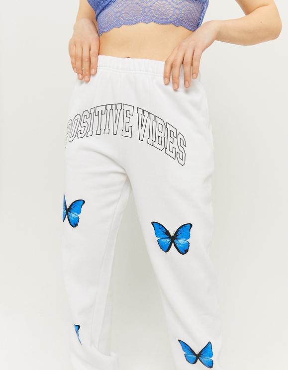 Pantaloni da Jogging con Farfalle a Vita Alta