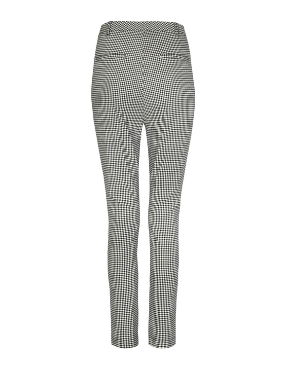 Houndstooth High Waist Dressy Trousers