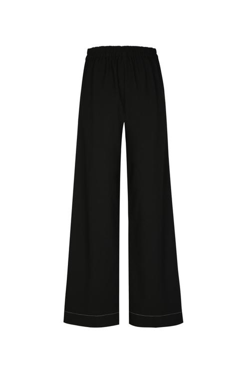 Pantalon Noir à Surpiqûres