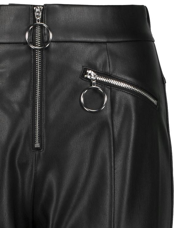 Spodnie Skinny ze sztucznej skóry z suwakiem