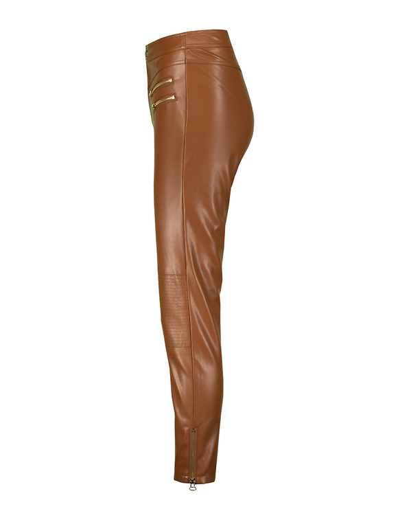 Pantalon Marron Similicuir
