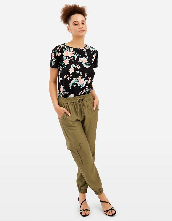 Pantaloni Cargo con Coulisse