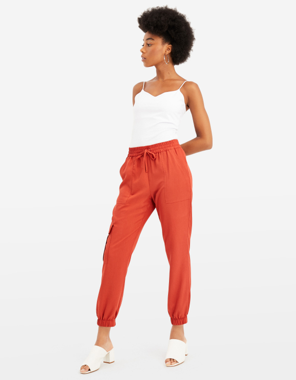 Cargo Pants with Drawstring Waist