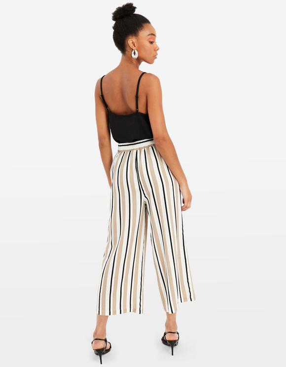 Pantalon Culotte Rayé