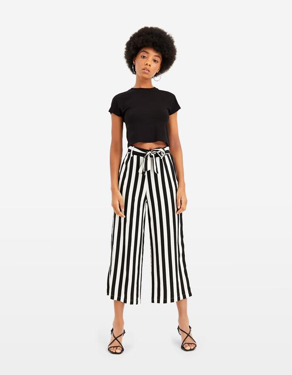 Striped Culotte Trousers
