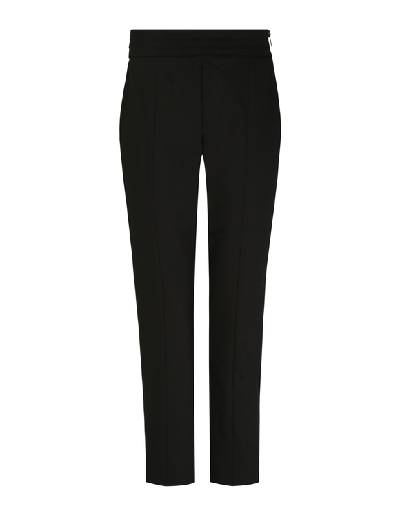 Black Side Zip Dressy Trousers
