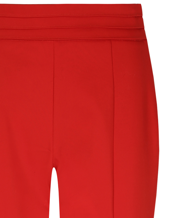Red Side Zip Dressy Trousers