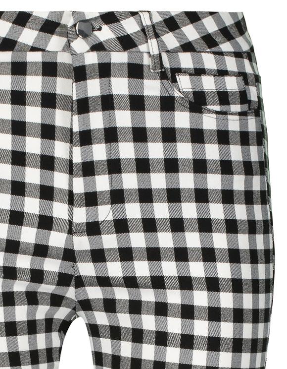 Spodnie Skinny w kratkę Vichy