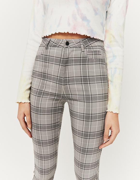 Pantaloni Skinny a Quadri