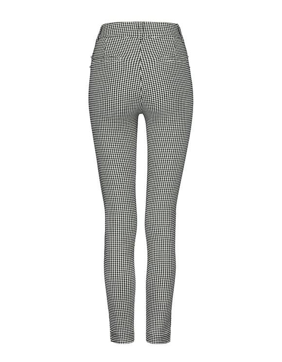Spodnie w kratkę Vichy z suwakiem