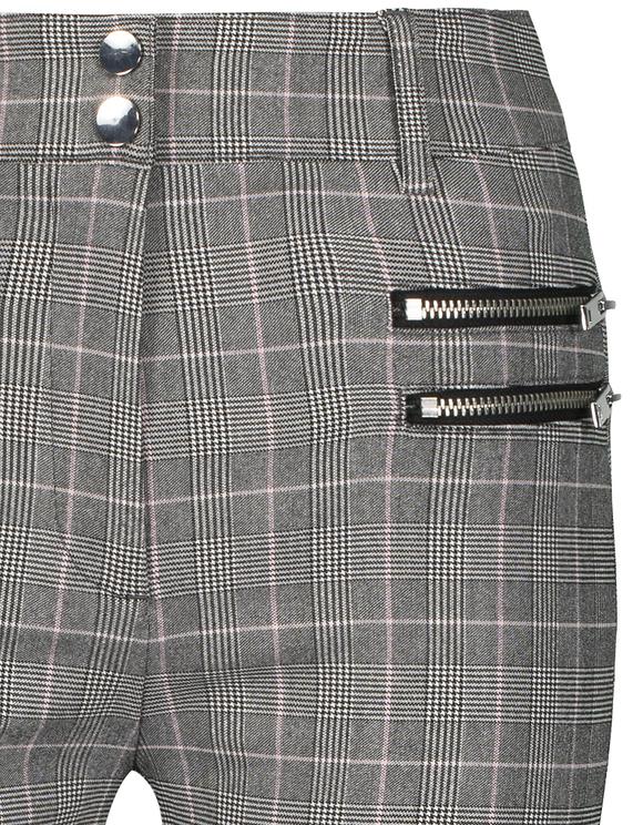 Pantalon à Carreaux avec Zip