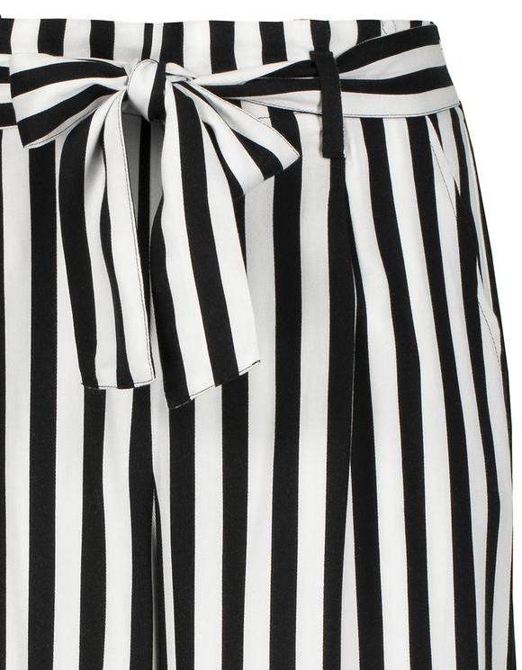 Pantalon Noir & Blanc Rayé