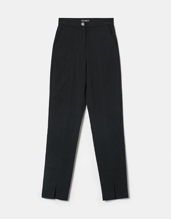 Schwarze High Waist Skinny Hose