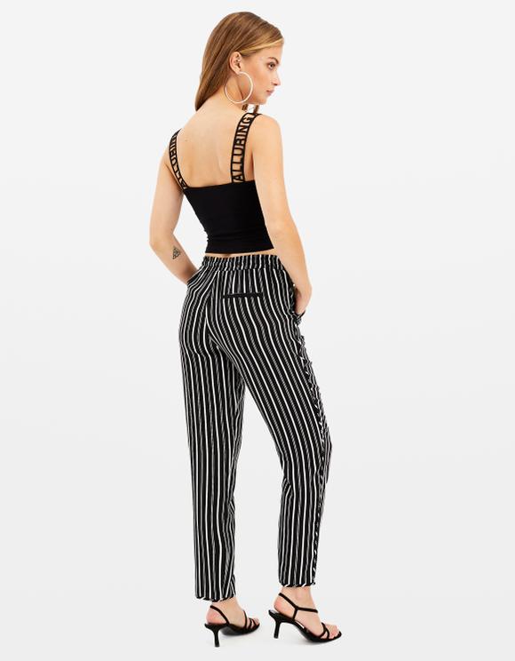 Pantalon Noir Rayé