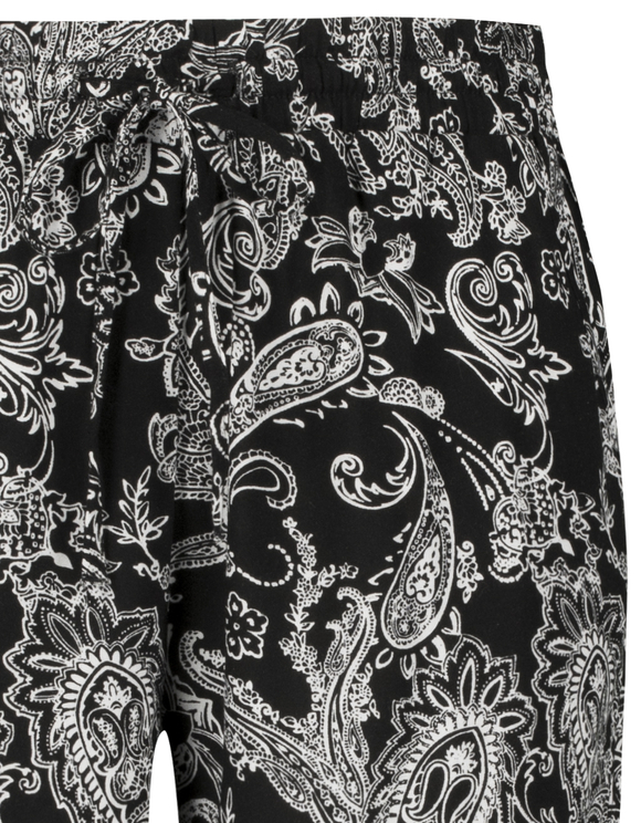 Black & White Paisley Trousers