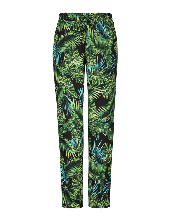 Pantalon Imprimé Tropical