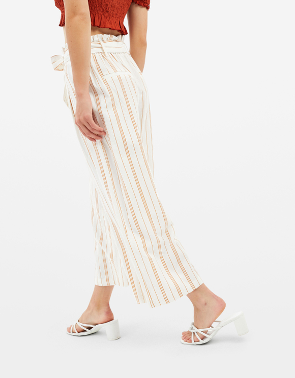 Striped Wide Trousers