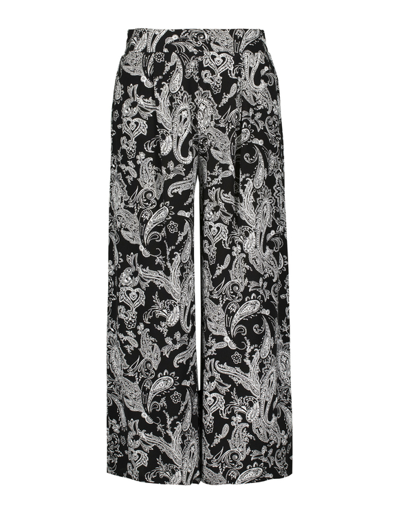 Pantalon Large Imprimé Cachemire