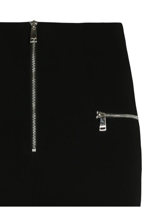 High Waist Hose mit Reißverschluss-Design