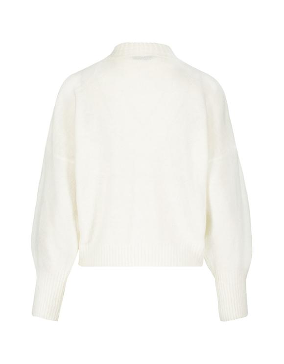 Maglione Bianco a Costine