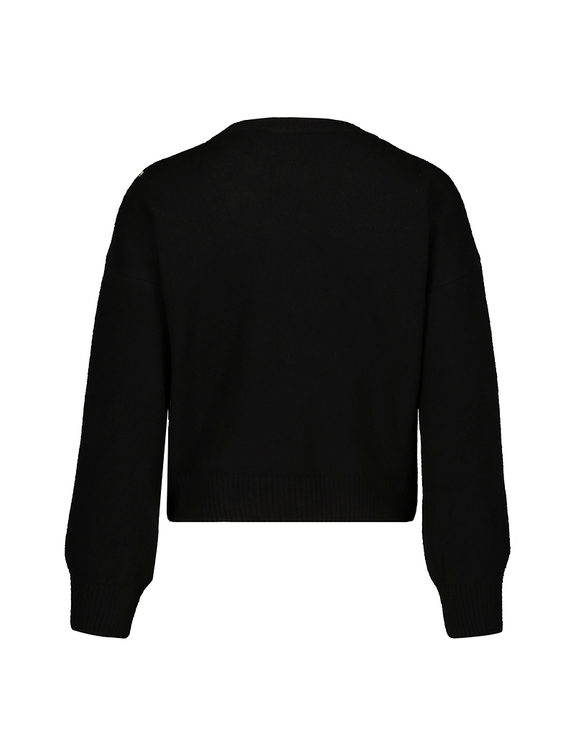Black Jacquard Jumper