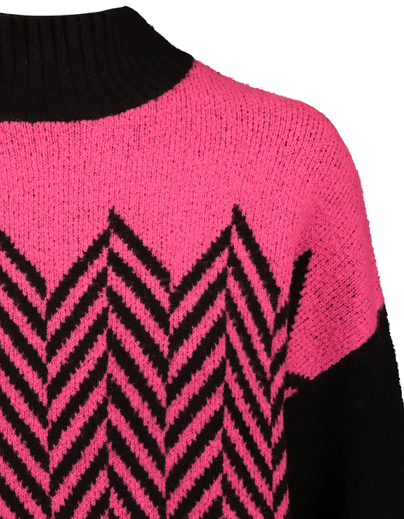 Pink & Black Chevron Jumper
