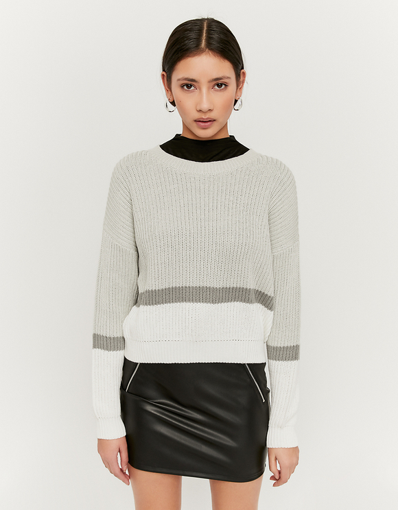 Bicolor Striped Jumper
