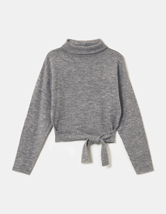 Grey Jumper To Tie