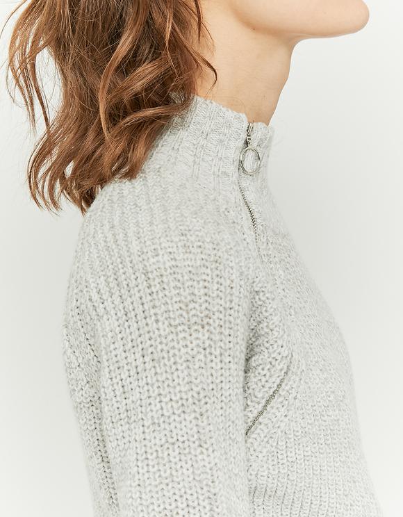 Grey Jumper with Zip