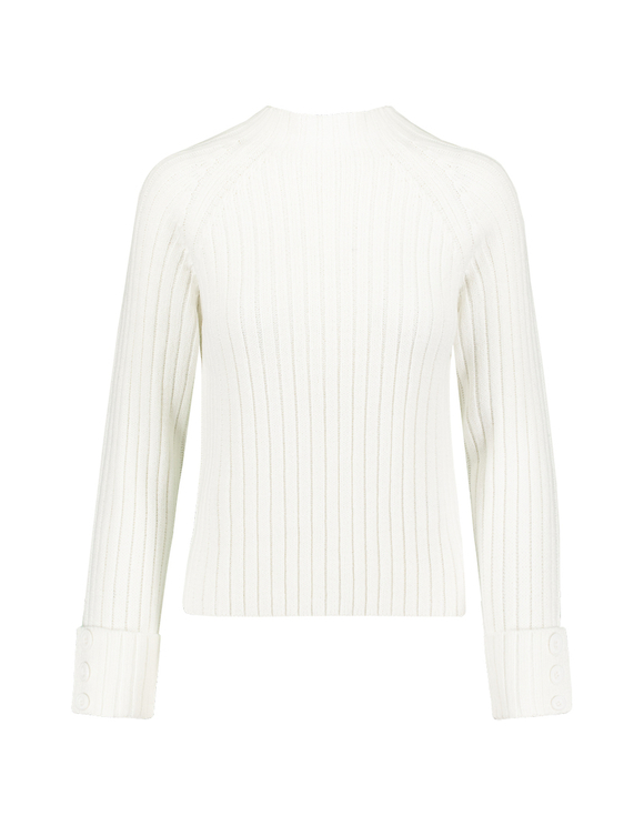Pull Côtelé Blanc