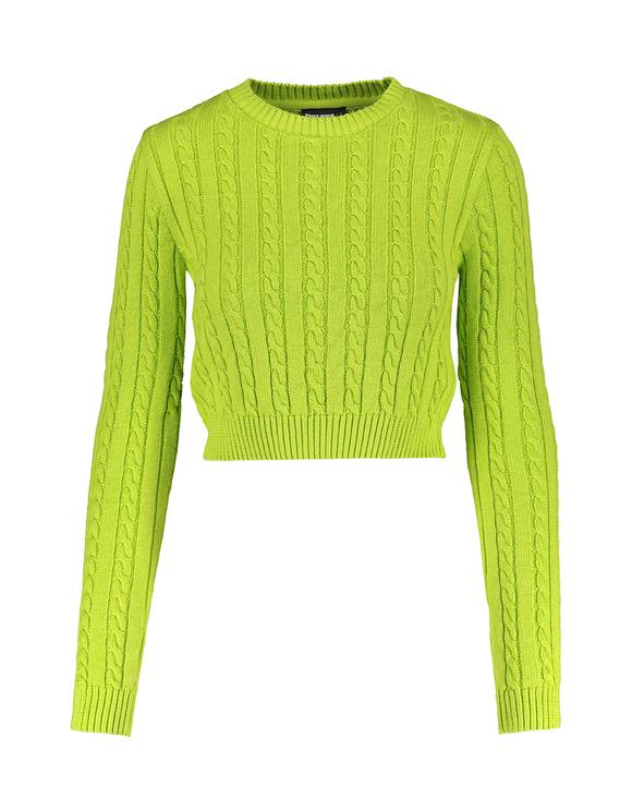 Green Fine Knit Jumper