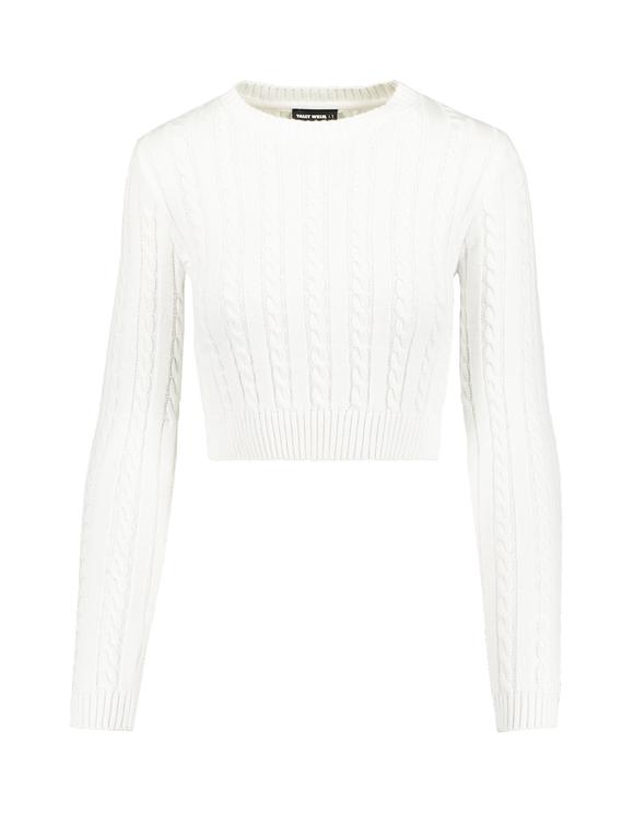 White Fine Knit Jumper