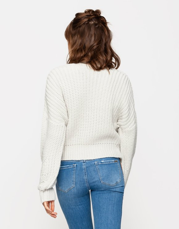 Grey Chunky Knit Jumper