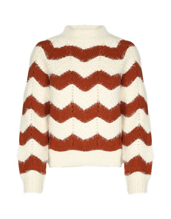 Pullover mit Farbblock-Rautendesign