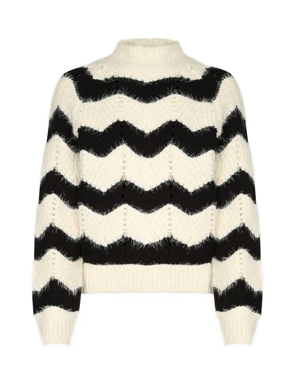 Black & White Chevron Jumper