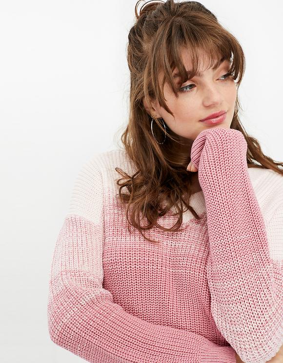 Pinker Tie Dye Pullover