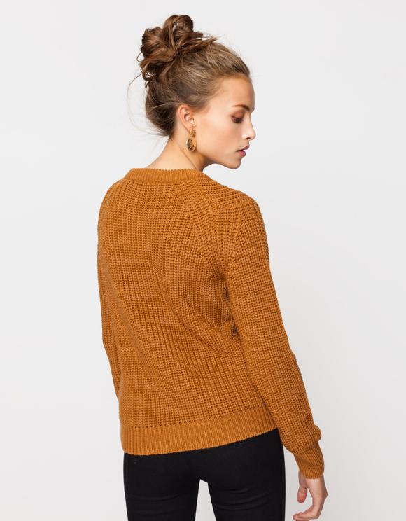Cognac Knit Jumper