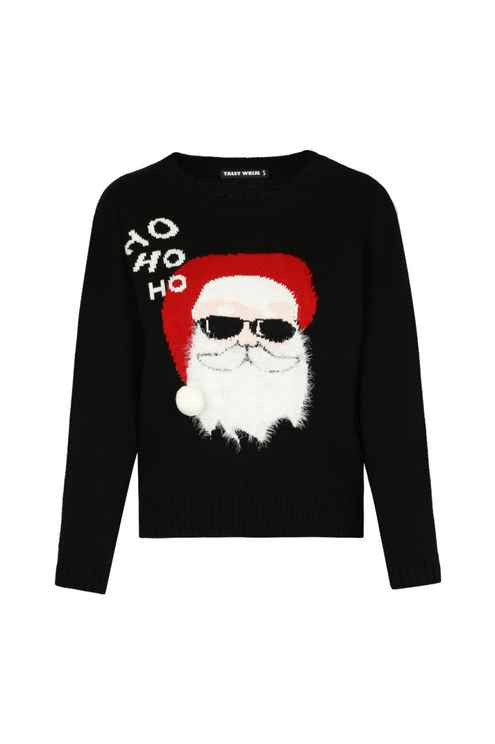 "Black ""Ho Ho Ho"" Jumper"